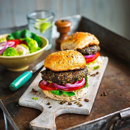 Veggie Burger「Mushroom and lentil burgers」:スマホ壁紙(12)