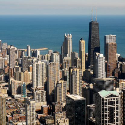 Great Lakes「View of Chicago, Illinois」:スマホ壁紙(17)