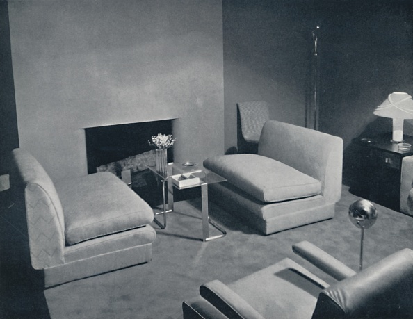 Coffee Table「A Fireside Group In A Living-Room Designed By Russel Wright」:写真・画像(12)[壁紙.com]