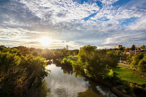 River「USA, Texas, Houston, Buffalo Bayou」:スマホ壁紙(3)