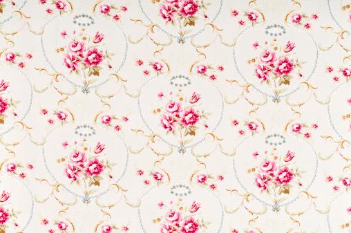 花柄「Meadow Rose 中のアンティークの花柄ファブリック」:スマホ壁紙(18)