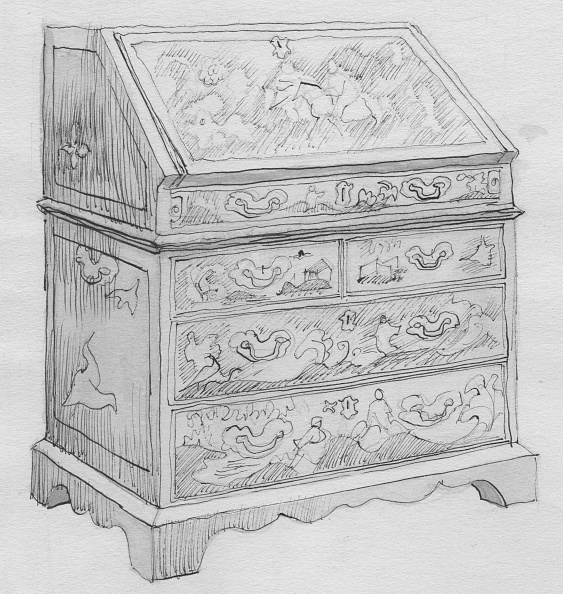 Dresser「Red Lacquer Cabinet,」:写真・画像(8)[壁紙.com]