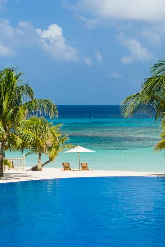 Roatan「Pool overlooking Caribbean Sea」:スマホ壁紙(11)