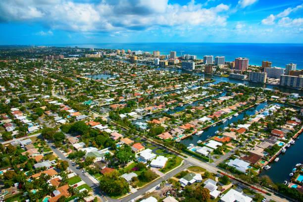 Pompano Beach Florida Aerial View:スマホ壁紙(壁紙.com)