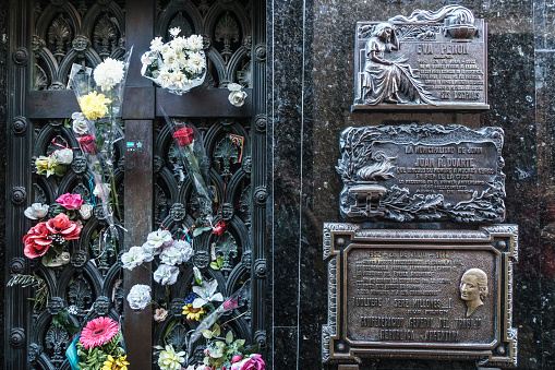 flower「Fresh flowers every day cover the vault of Eva Peron's Duarte family where she is buried in La Recoleta Cemetery, considered one of the most beautiful in the world, which lies right in the heart of the city, Buenos Aires, Argentina」:スマホ壁紙(3)