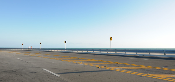 Crash Barrier「empty Roosevelt Boulevard, Key West Florida USA」:スマホ壁紙(19)