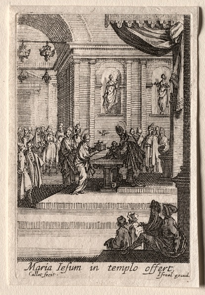 Etching「The Life Of The Virgin: The Presentation Of Christ In The Temple. Creator: Jacques Callot (French」:写真・画像(17)[壁紙.com]