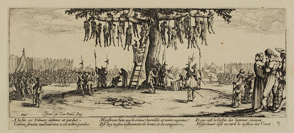 Etching「The Miseries of War, No. 11. The Hanging, 1633. Artist: Callot, Jacques (1592-1635)」:写真・画像(12)[壁紙.com]