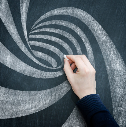 Chalk - Art Equipment「blackboard spiral」:スマホ壁紙(5)