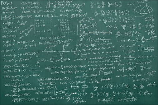 Illustration「Blackboard full of equations」:スマホ壁紙(2)
