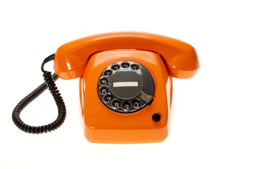 Conference Phone「Orange vintage phone」:スマホ壁紙(5)
