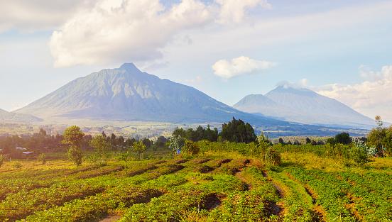 Volcanic Landscape「Virunga Mountains and Volcanoes in Rwanda」:スマホ壁紙(17)