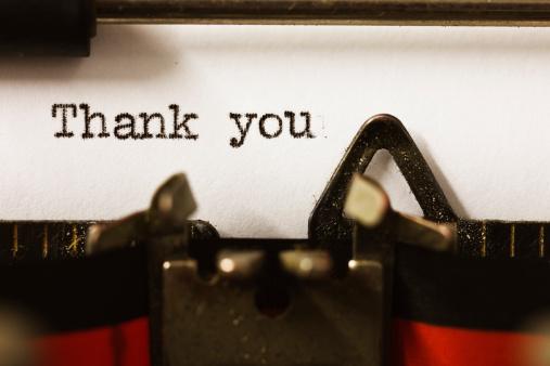 """Typing「""""Thank you"""" on vintage manual typewriter」:スマホ壁紙(16)"""