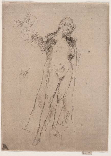 The Fan (Model No. 3). Creator: James Mcneill Whistler (American:ニュース(壁紙.com)