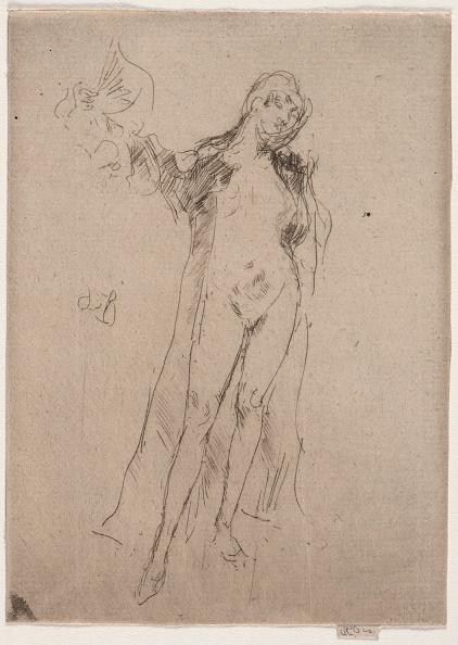 Etching「The Fan (Model No. 3). Creator: James Mcneill Whistler (American」:写真・画像(1)[壁紙.com]