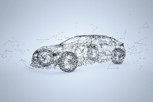 近未来的「Car Network inverted - quer」:スマホ壁紙(11)