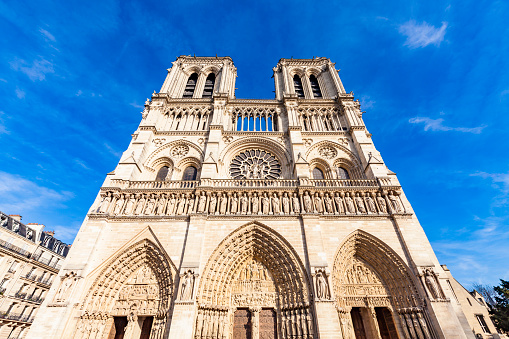 France「France, Paris, Notre Dame church」:スマホ壁紙(1)