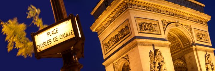 Arc de Triomphe - Paris「France, Paris, Arc de Triomphe, night」:スマホ壁紙(13)