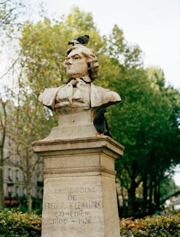 俳優「France, Paris, pigeon on statue, close-up」:スマホ壁紙(17)