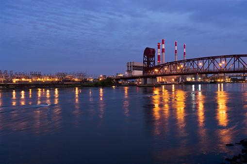 star sky「Roosevelt Island Bridge, New York City」:スマホ壁紙(4)