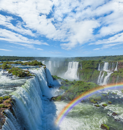 Rainbow「Brazil Iguacu Falls with rainbow」:スマホ壁紙(5)