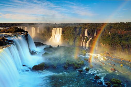 虹「Brazil, Iguassu Falls National Park」:スマホ壁紙(5)