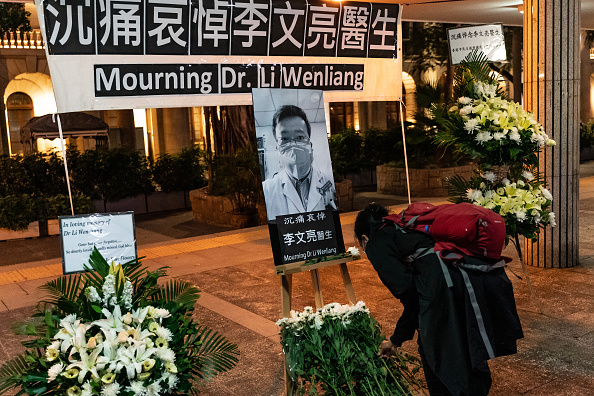 Memorial Vigil「Reactions In Hong Kong After Death of Coronavirus Whistleblower Doctor」:写真・画像(19)[壁紙.com]