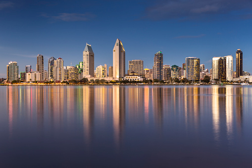 San Diego County「San Diego skyline at night」:スマホ壁紙(18)
