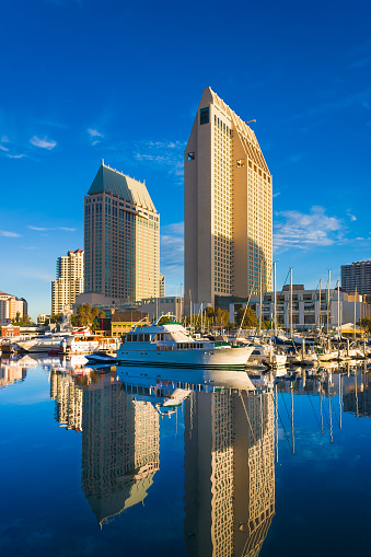 Financial District「San Diego skyline Embarcadero Marina reflections」:スマホ壁紙(1)