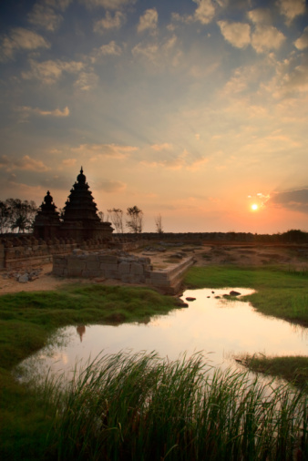 UNESCO「Mamallapuram, The Shore Temple」:スマホ壁紙(16)