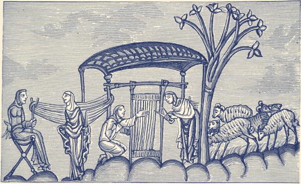 Wool「Woman weaving, A.D 1130 - 1174」:写真・画像(15)[壁紙.com]
