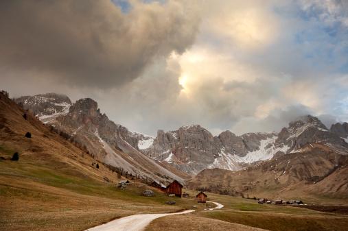 Thunderstorm「Romantic sky over the Dolomites」:スマホ壁紙(2)