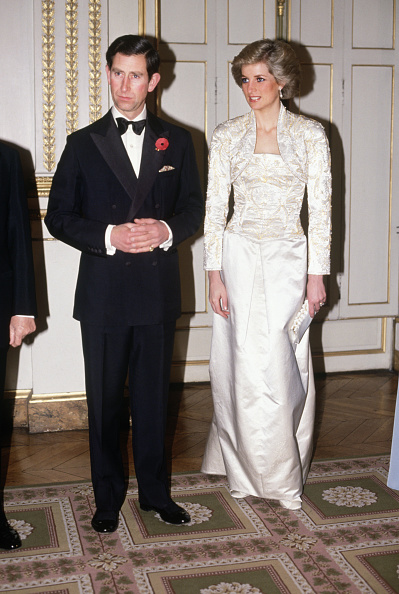 Paris - France「Prince Charles and Diana Princess of Wales meet guests arriving at a dinner in the Elysee Palace in Paris...」:写真・画像(6)[壁紙.com]