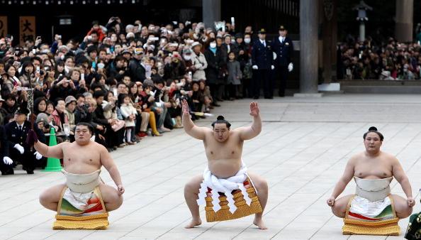 朝青龍 明徳「Sumo Grand Champions Celebrate The New Year」:写真・画像(3)[壁紙.com]
