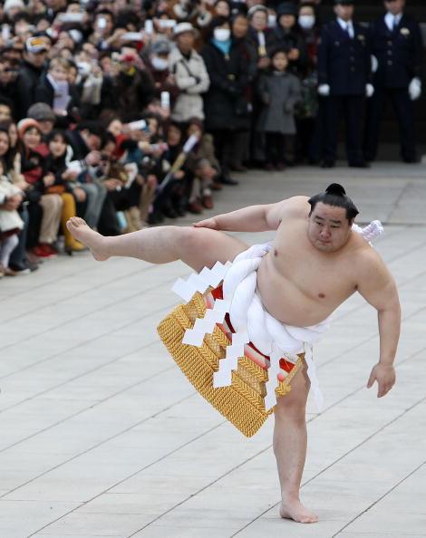 朝青龍 明徳「Sumo Grand Champions Celebrate The New Year」:写真・画像(1)[壁紙.com]