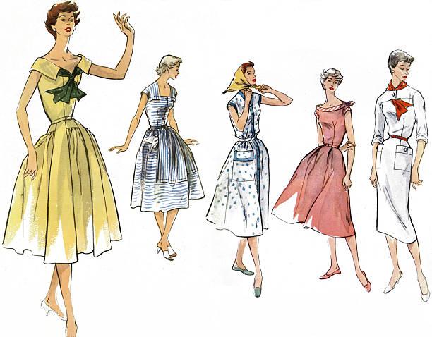 French Summer Fashions, 1950s.:ニュース(壁紙.com)