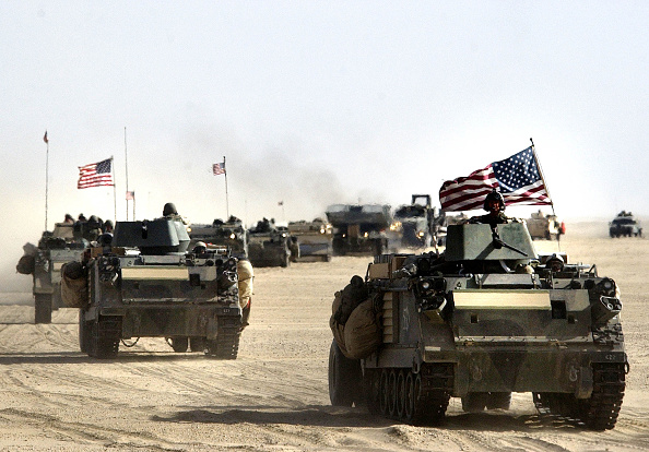 Middle East「U.S. And British Forces Prepare For Possible War Against Iraq 」:写真・画像(1)[壁紙.com]