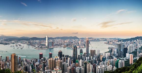 Hong Kong「Panoramic View of Victoria Harbour of Hong Kong」:スマホ壁紙(19)