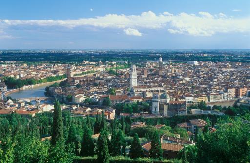 アディジェ川「Panoramic view to Verona」:スマホ壁紙(14)