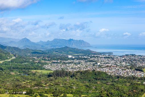 オアフ島「パリ ・ ルックアウト、ハワイ島からオアフ島の全景」:スマホ壁紙(14)