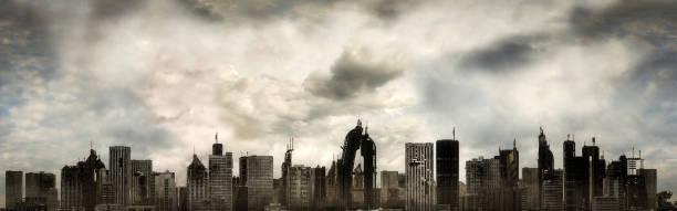 Panoramic View of a Destroyed Metropolis:スマホ壁紙(壁紙.com)