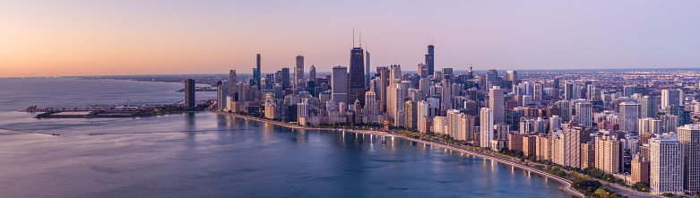 Great Lakes「Panoramic View of Chicago Cityscape」:スマホ壁紙(19)