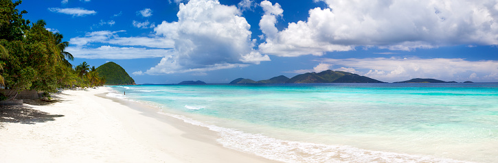 Caribbean「panoramic view of Long Bay, Tortola, British Virgin Islands」:スマホ壁紙(18)