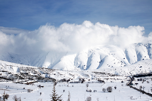 エクストリームスポーツ「山の冬の風景のパノラマビュー」:スマホ壁紙(6)