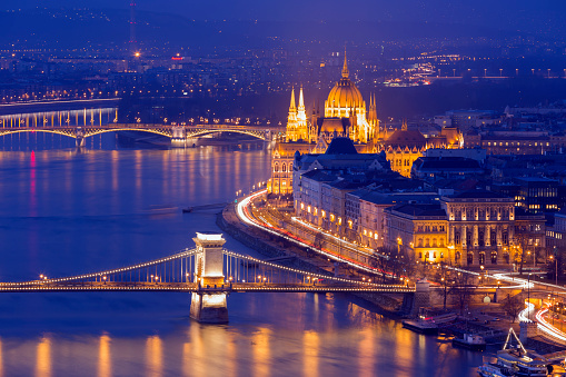 Hungary「Panoramic view of Budapest cityscape」:スマホ壁紙(10)