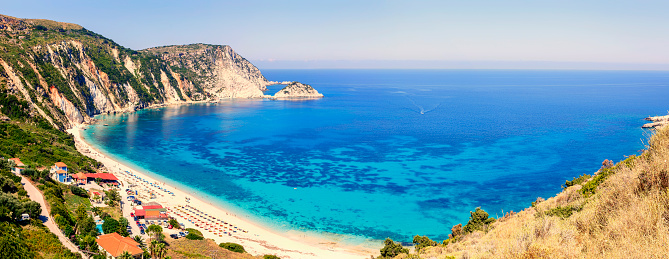 Steep「Panoramic view of Petani beach in Kefalonia, Greece」:スマホ壁紙(9)