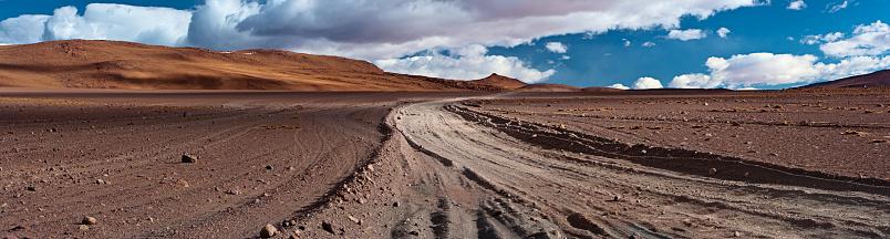 Dirt Road「Panoramic view of Bolivian altiplano」:スマホ壁紙(14)