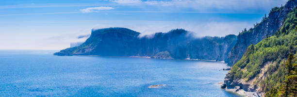 Panoramic view of Cap Bon-Ami in Forillon, one of Canada's 42 national Parks and Park Reserves, situated in the province of Quebec.:スマホ壁紙(壁紙.com)