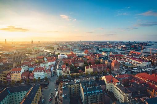 Danish Culture「Panoramic view of Copenhagen, Denmark.」:スマホ壁紙(10)