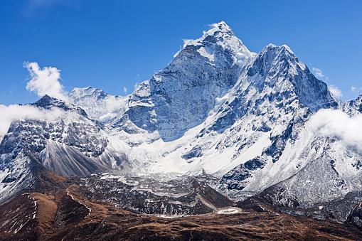 Ama Dablam「Panoramic view of mount Ama Dablam - Himalaya Range」:スマホ壁紙(5)